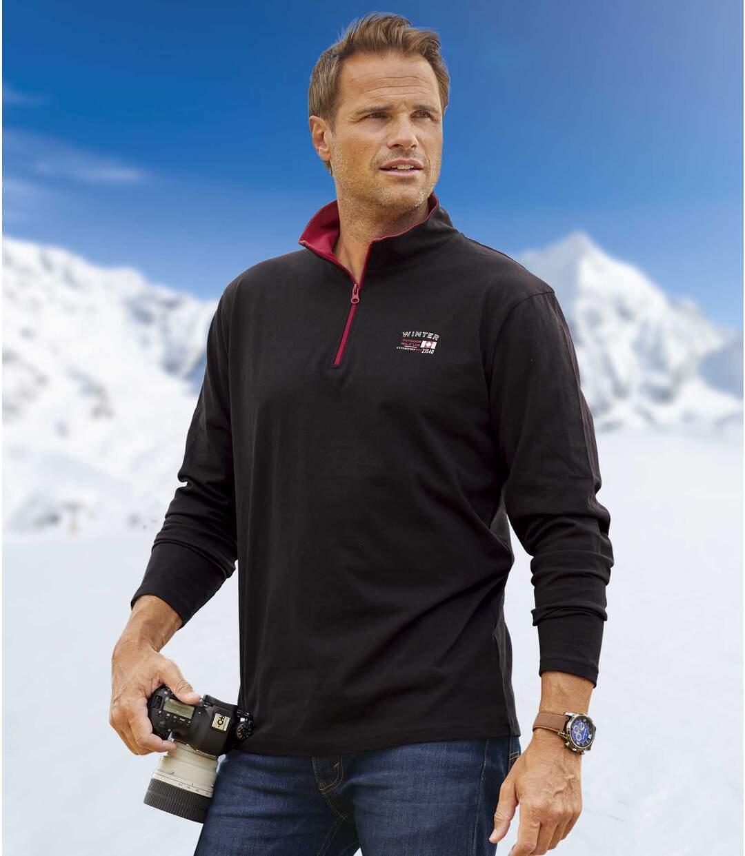 2er-Pack Poloshirts Winter mit RV-Kragen