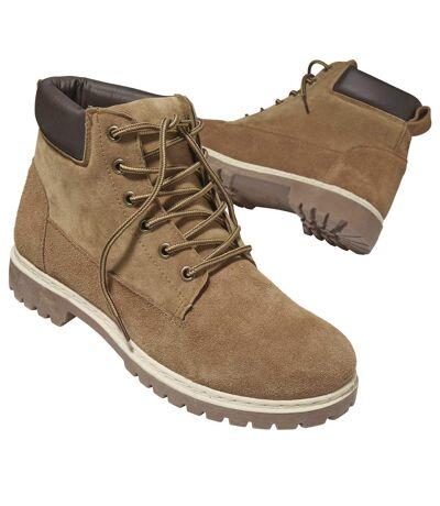 Men's Brown Outdoor High-Top Shoes