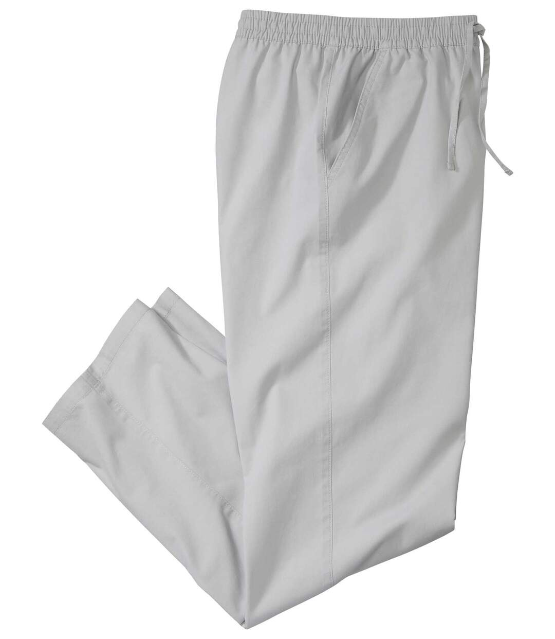 Men's Grey Relaxed Canvas Trousers