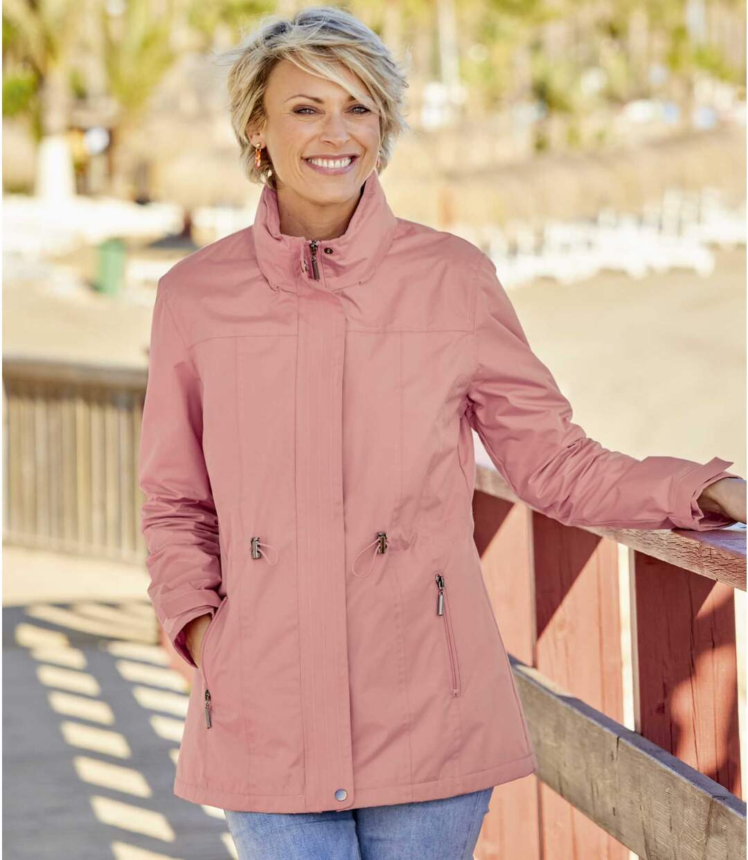 Women's Pink Windbreaker