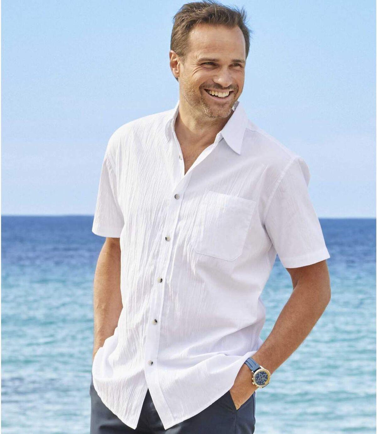 2er-Pack Hemden Riviera aus Krepp Atlas For Men