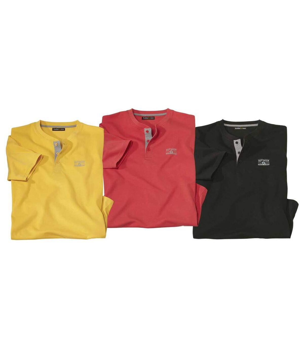 3er-Pack Henley-Shirts Outdoor Atlas For Men