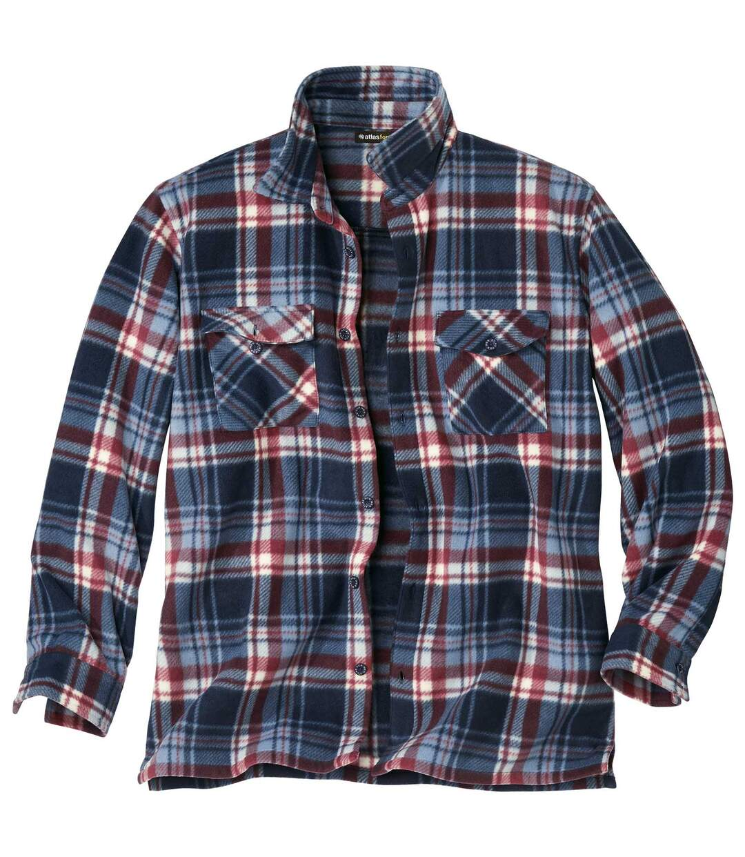 Geruit overhemdvest van fleece