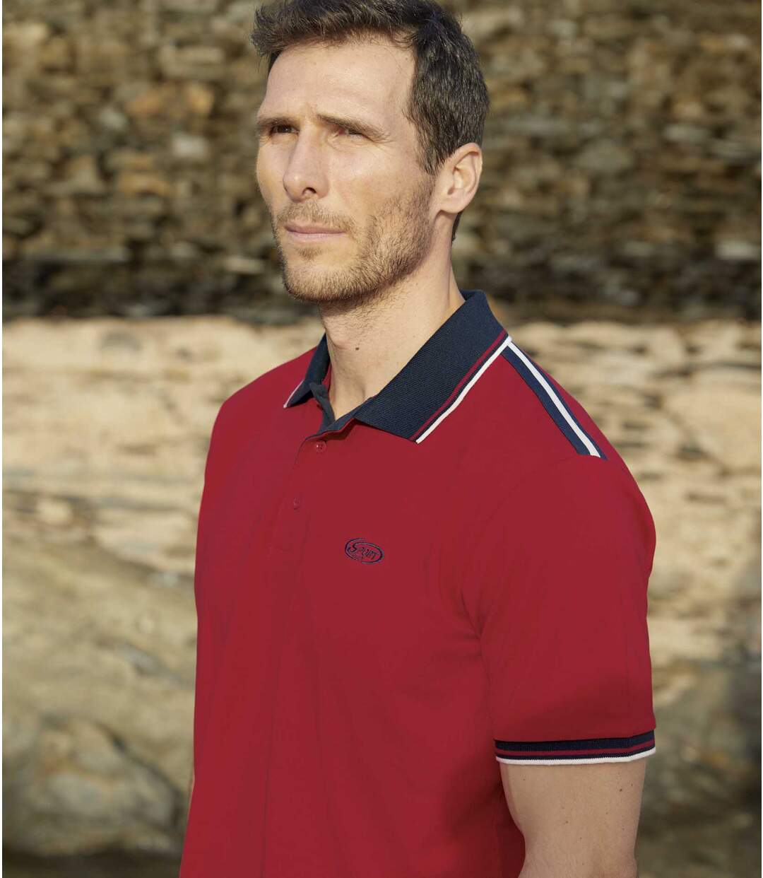2er-Pack Poloshirts Sport in Piqué-Qualität