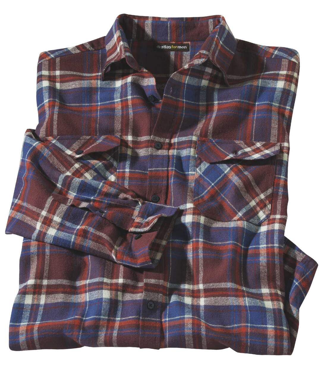 Men's Longmont Flannel Shirt - Red Blue