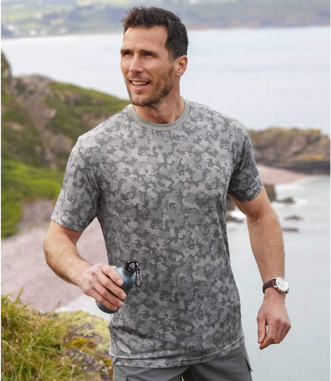 Pack of 2 Men's Camouflage T-Shirts - Blue Grey  Atlas For Men