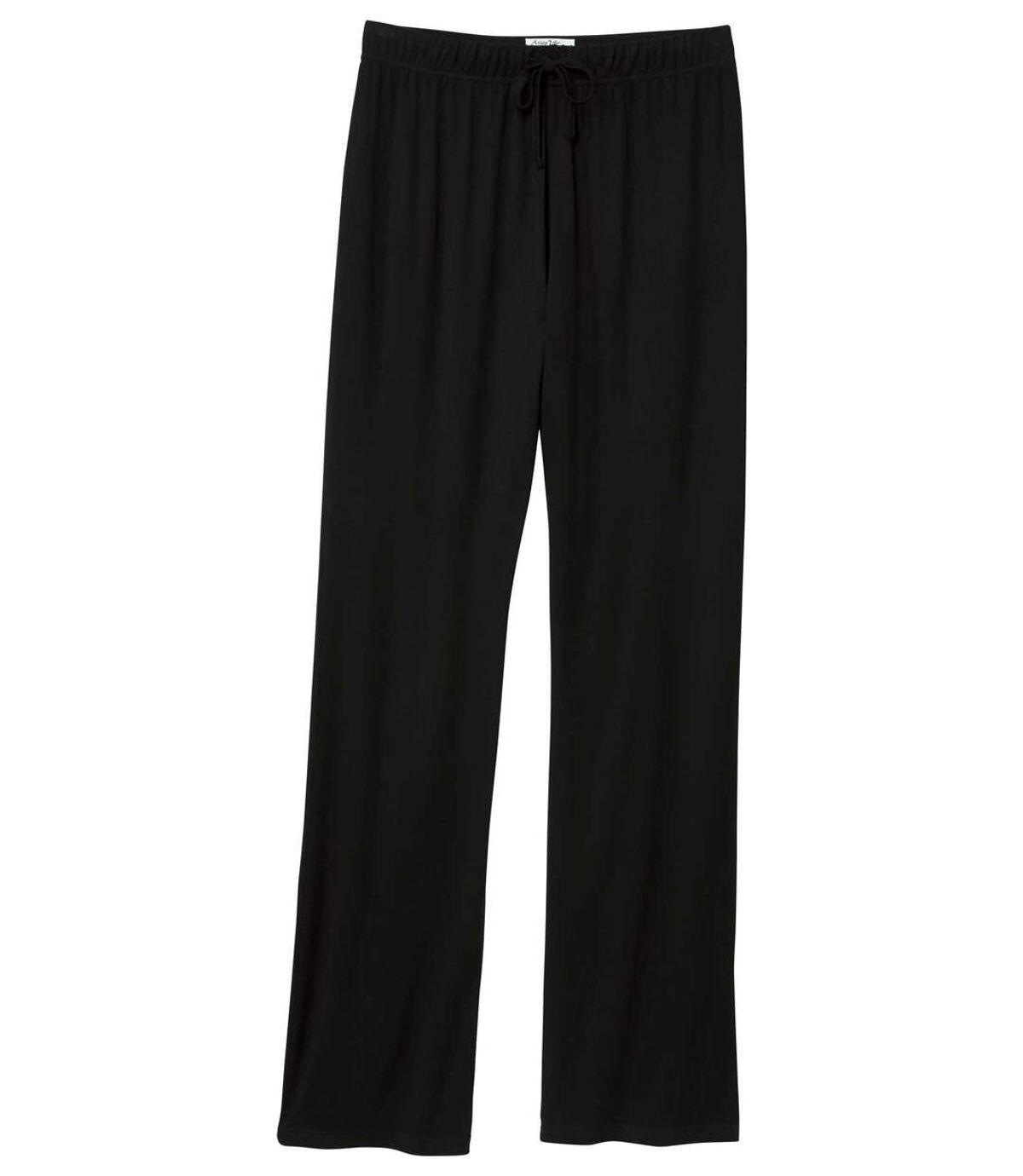 Women's Black Loose Fit Pants Atlas For Men