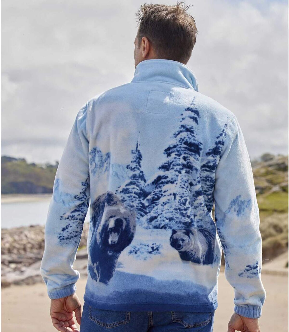 Polarowa bluza z wizerunkiem niedźwiedzia Atlas For Men