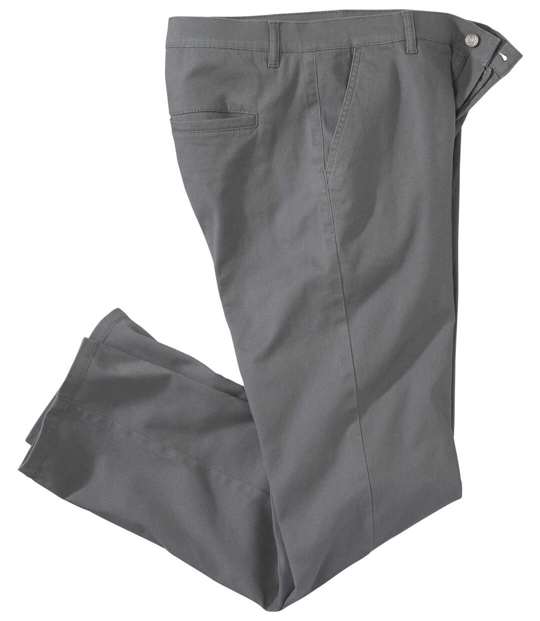 Graue Chino-Hose mit Stretch-Effekt