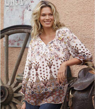 Women's Floral Patterned Blouse