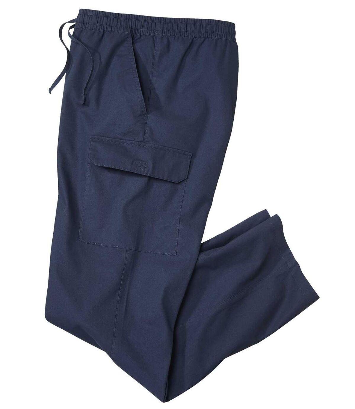 Men's Navy Casual Cargo Pants  Atlas For Men