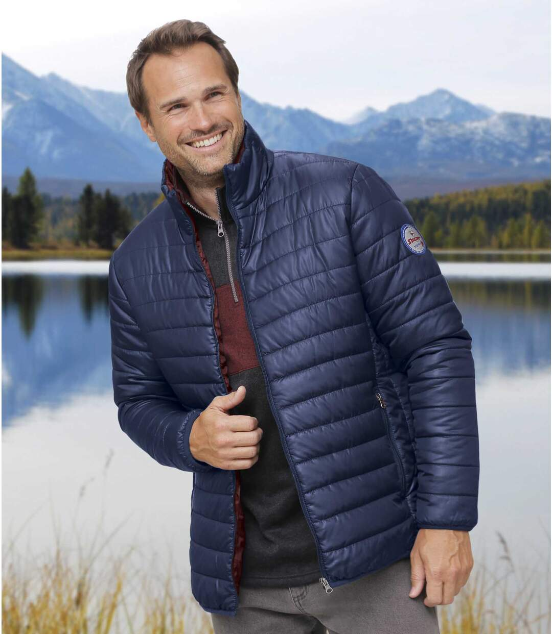 Men's Lightweight Mountain Sport Puffer Jacket - Blue