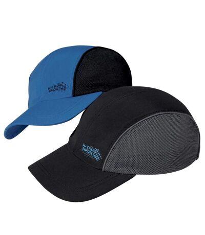 Pack of 2 Men's Baseball Caps - Blue Black