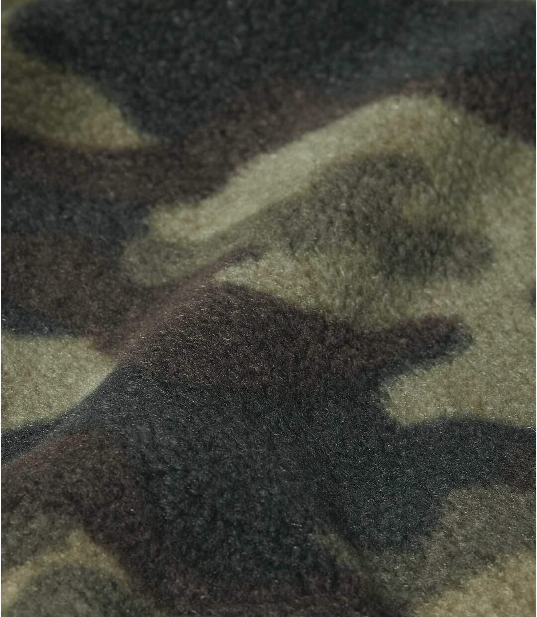 Fleece bodywarmer met camouflageprint