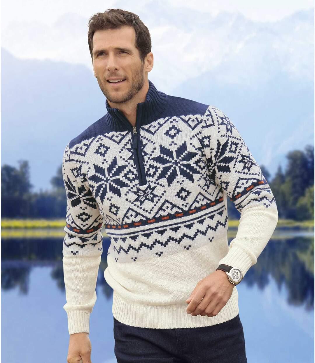 Pullover mit Troyer-Kragen
