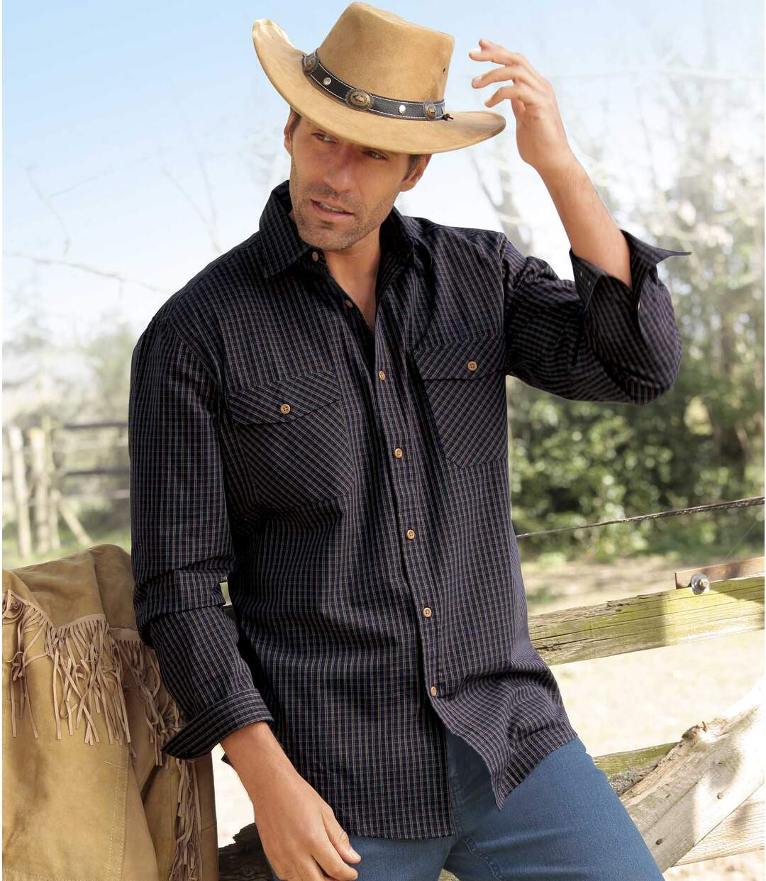 Popelínová košeľa Montana Fall