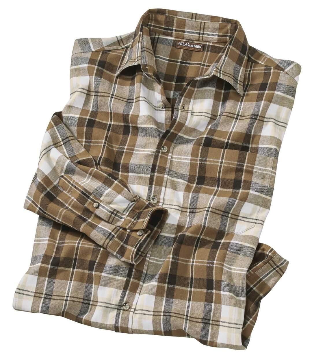 Kockovaná flanelová košeľa