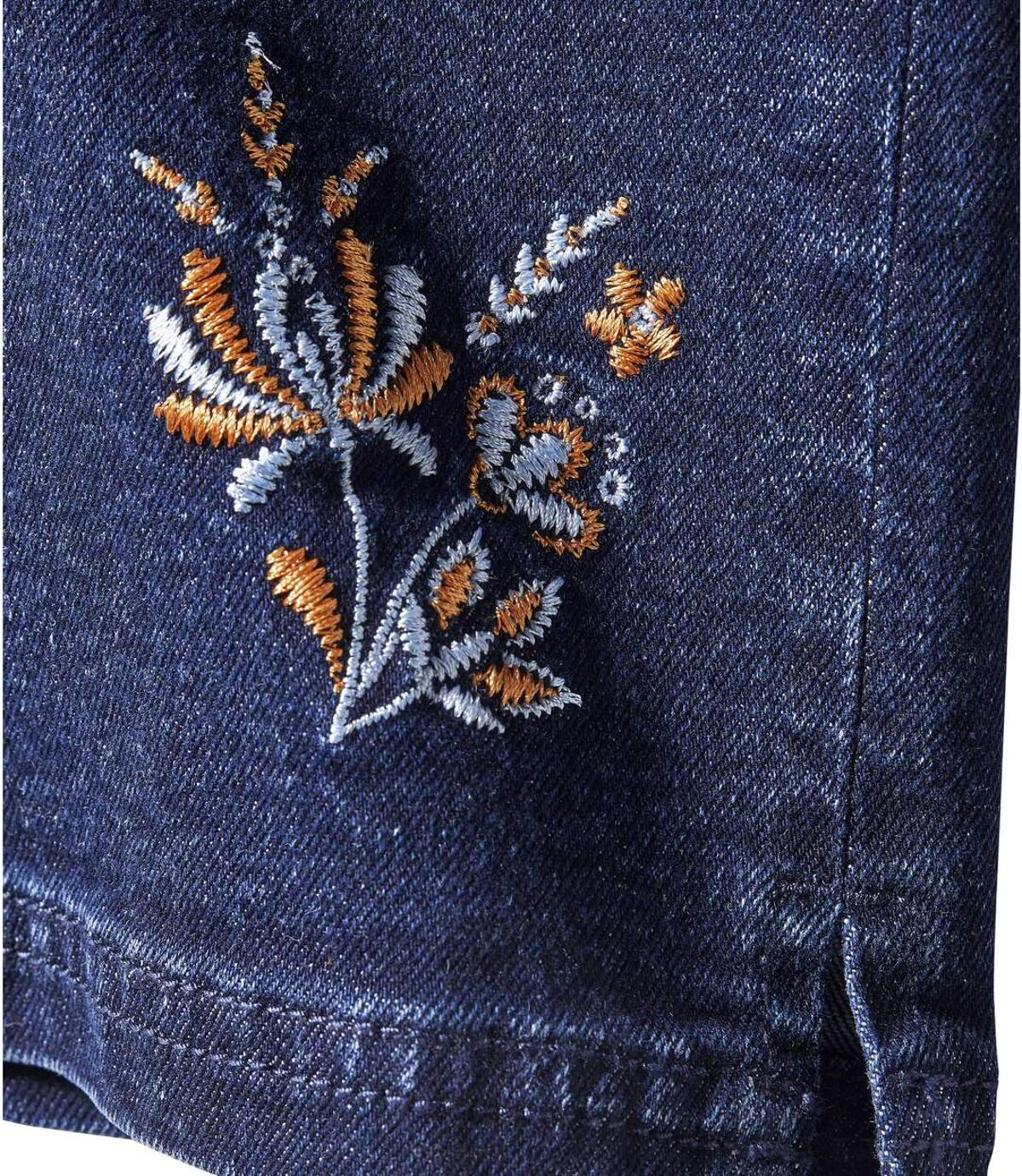 Women's Embroidered 7/8 Stretch Jeans - Blue Atlas For Men