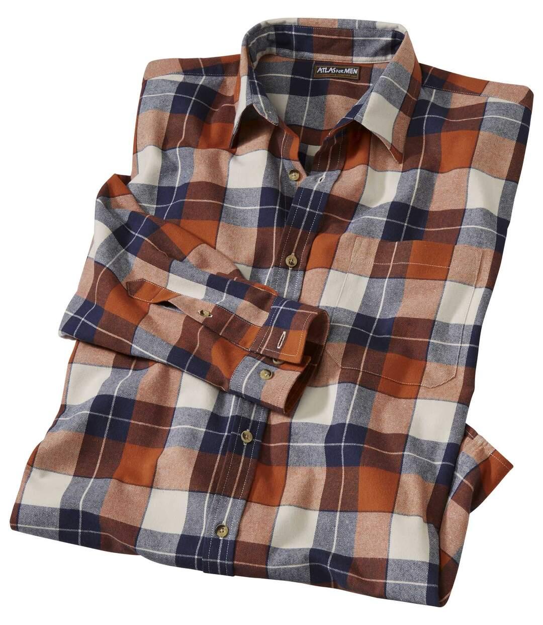 Flanellen herfst overhemd