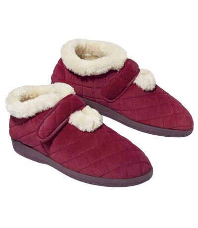 Women's Red Boot Slippers