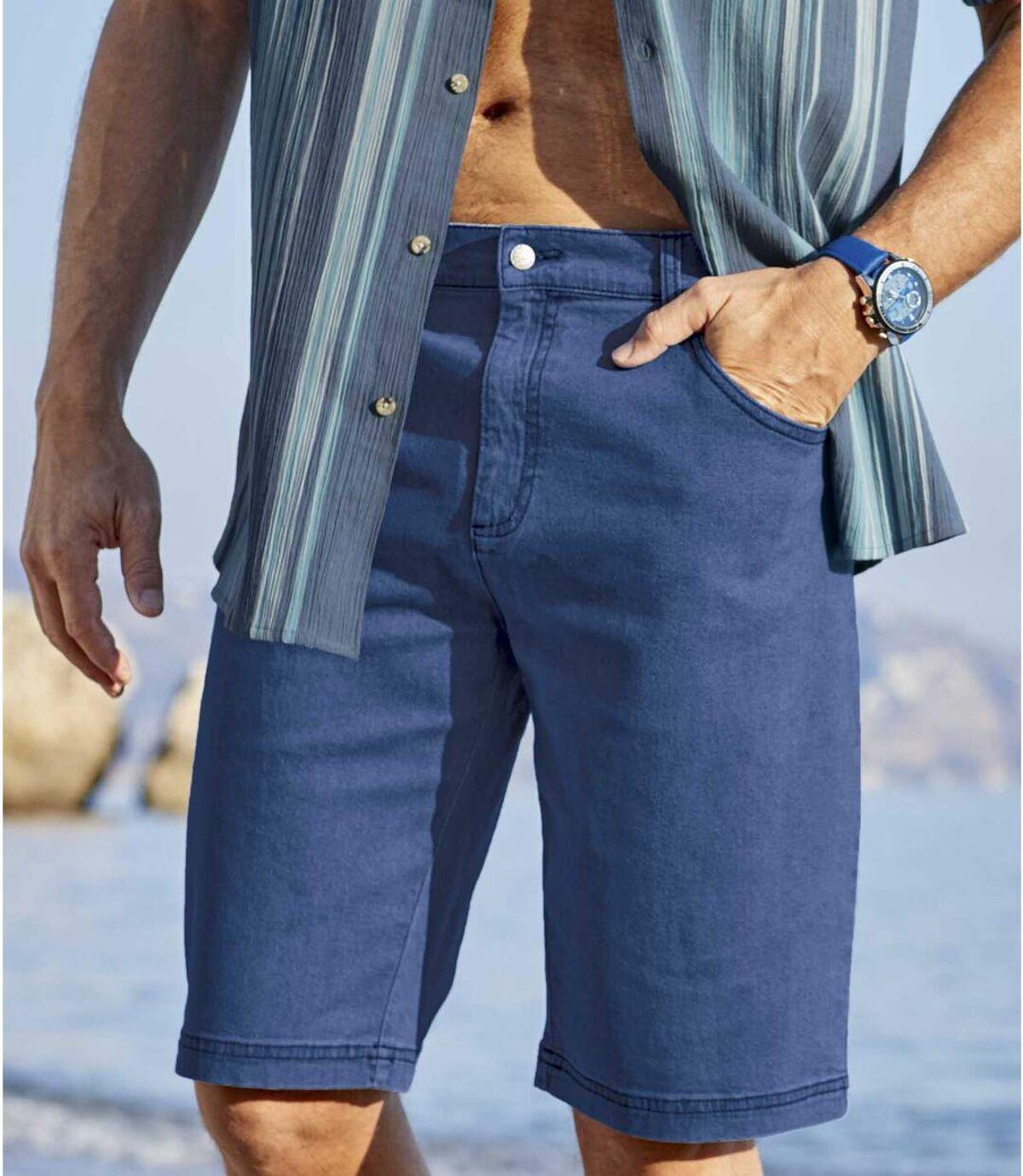 Súprava 2strečových džínsových bermúd Atlas For Men