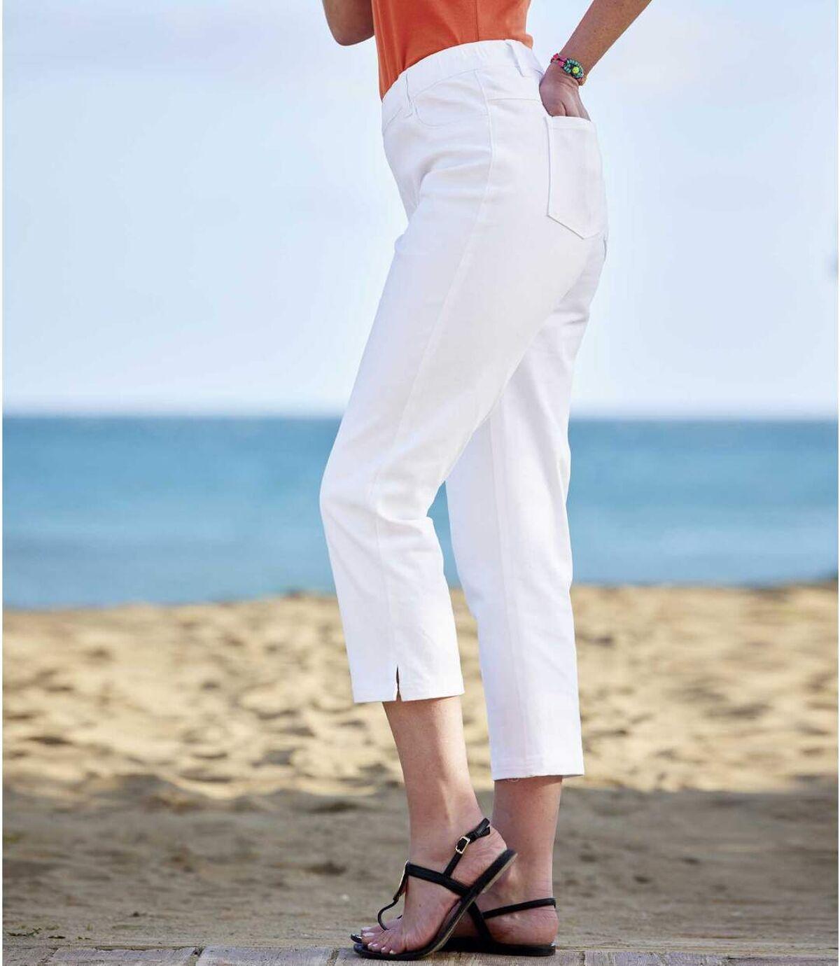Capri-Hose aus Baumwoll-Stretch Atlas For Men