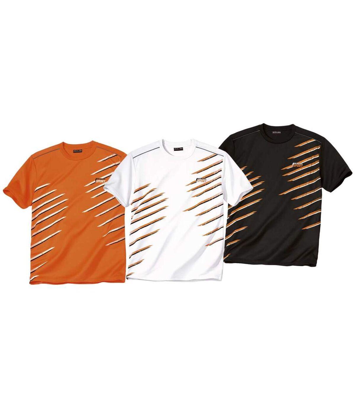 Súprava 3 športových tričiek sgrafickou potlačou Atlas For Men