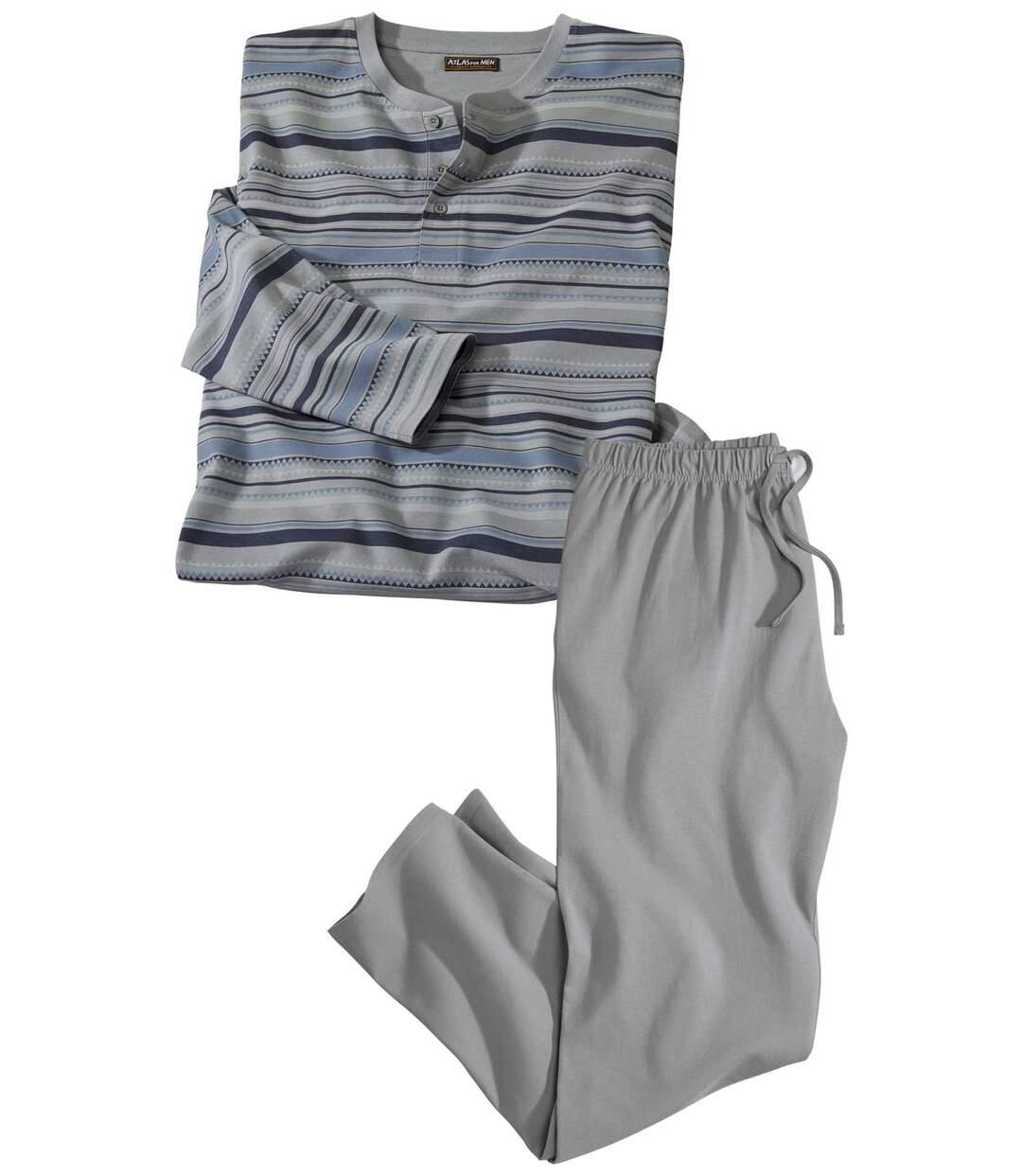 Gestreifter Schlafanzug Top Komfort