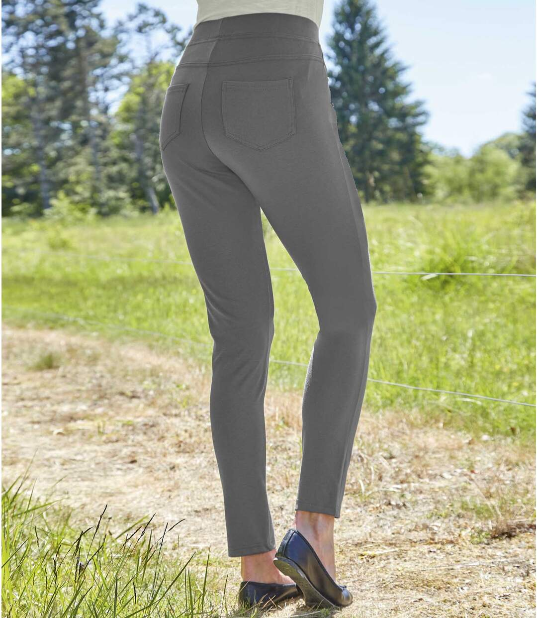 Women's Grey Comfortable Stretch Leggings