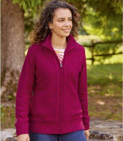 Pletený svetr sfleecovou podšívkou Coral