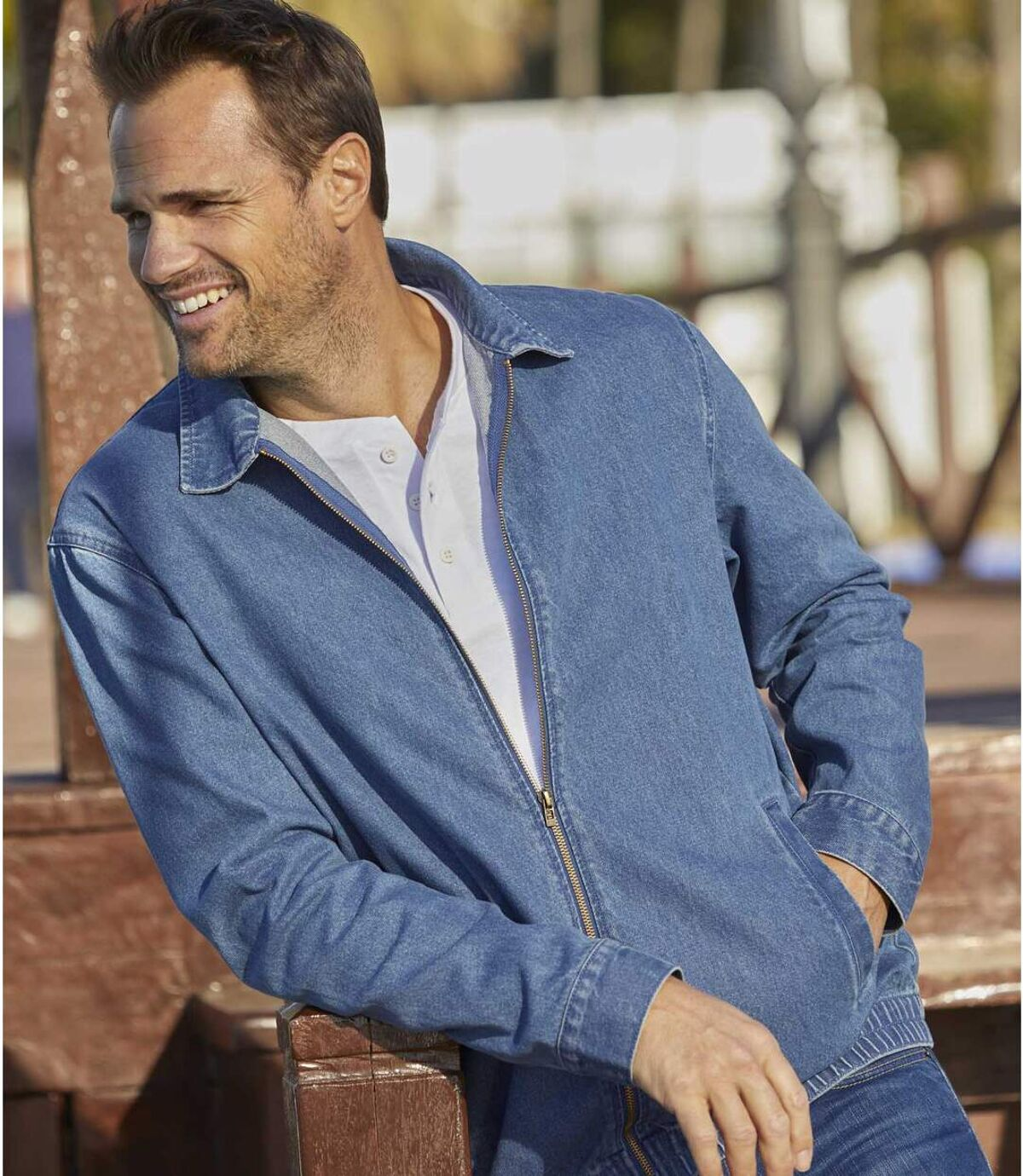 Men's Blue Summer Denim Jacket Atlas For Men