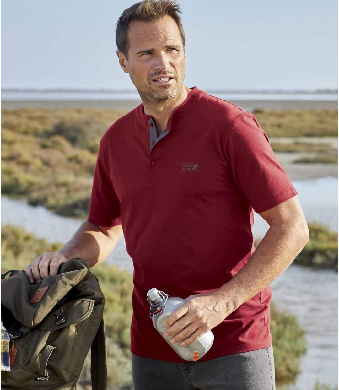 Zestaw 3 t-shirtów z dekoltem zapinanym na guziki Canada Wild Atlas For Men