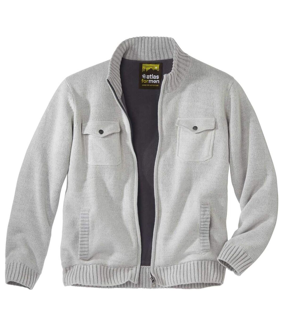 Pletený sveter podšitý flísom Atlas For Men