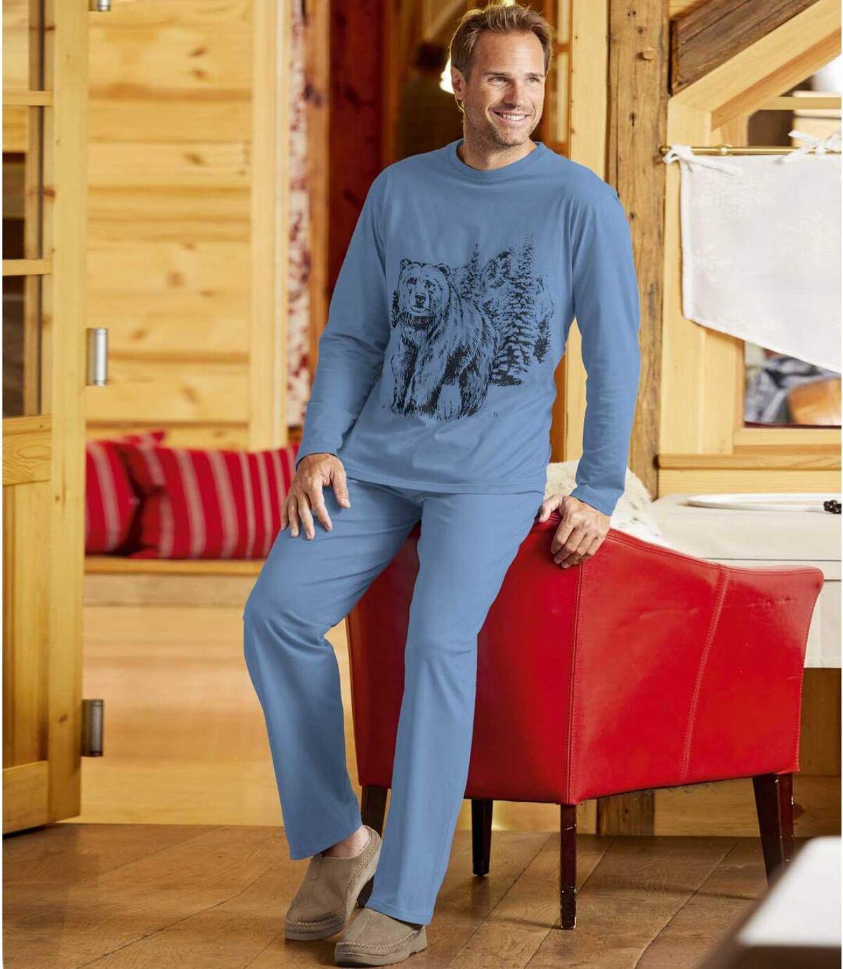Winter Bear pamut pizsama Atlas For Men