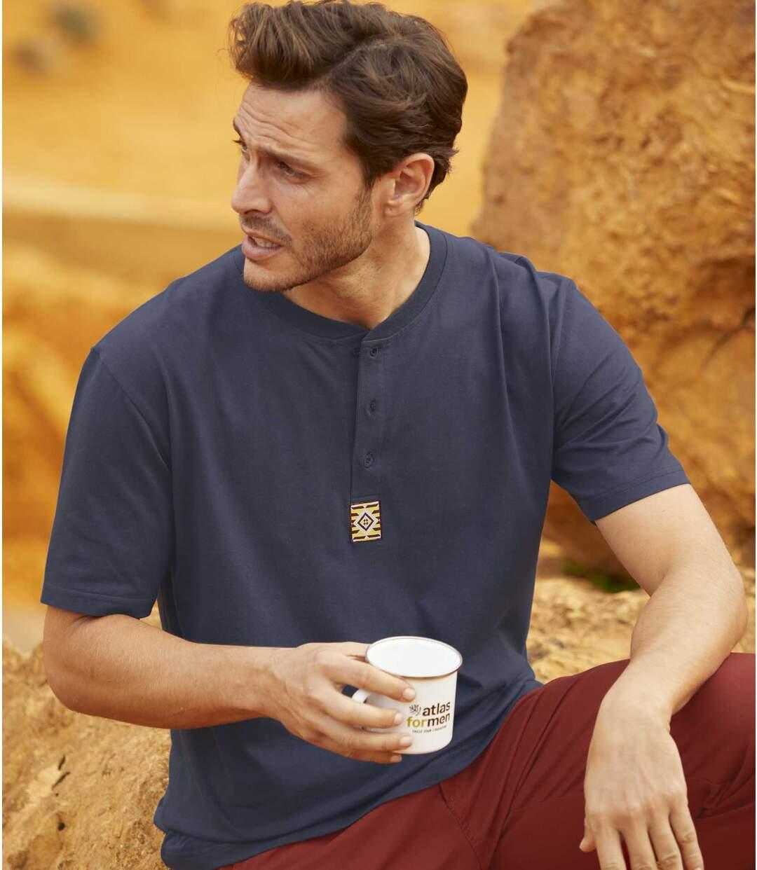 Sada 3 triček Atlas® sknoflíčkovým zapínáním ukrku
