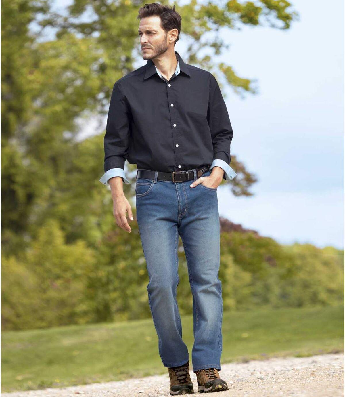 Sada 2 strečových džínsů rovného střihu Atlas For Men