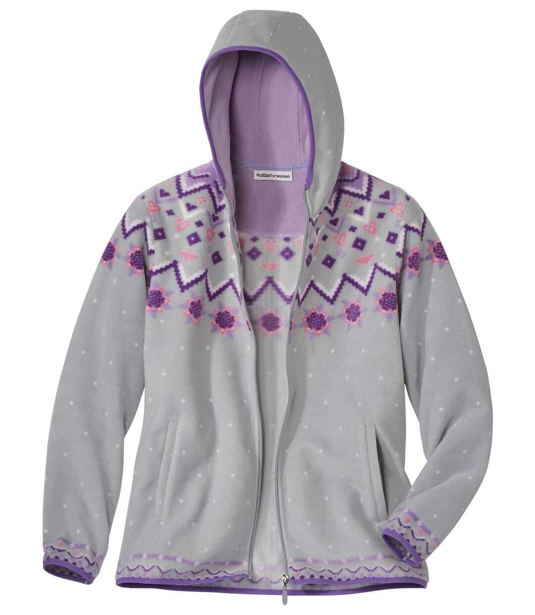 Fleecová bunda skapucí vhorském stylu