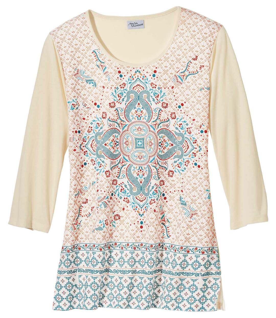 T-Shirt Azuléjos im Tunika-Stil