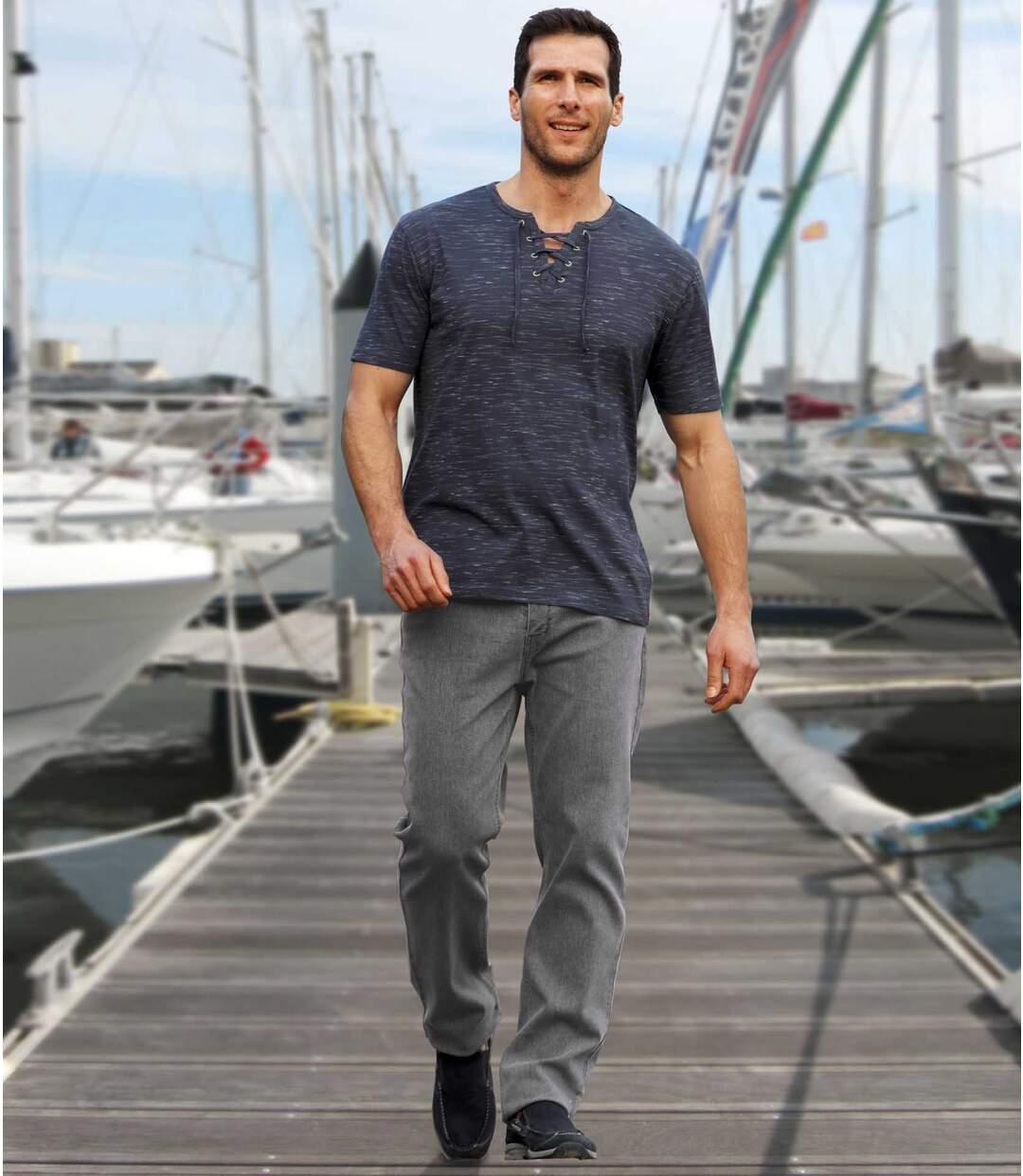 Letnie jeansy ze stretchem
