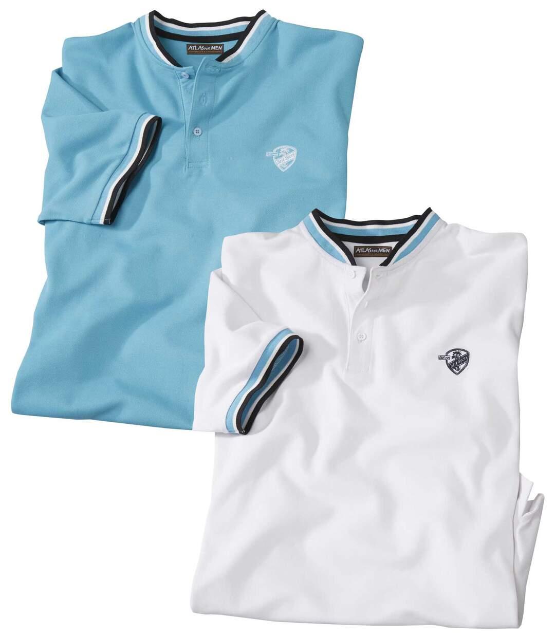 2er-Pack Poloshirts mit Offizierskragen