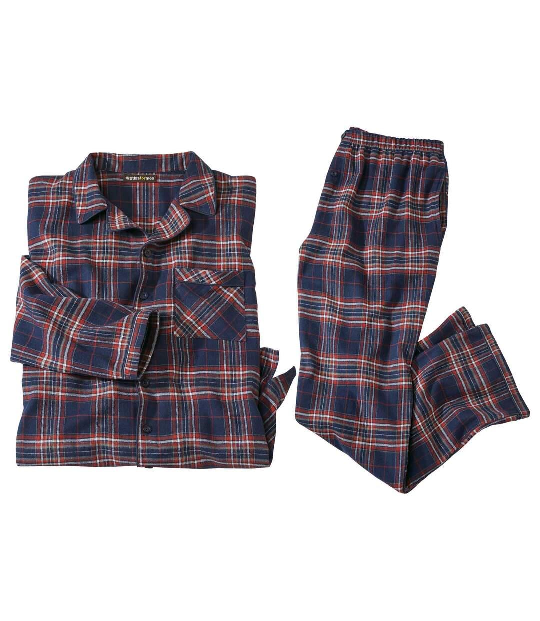 Kárované flanelové pyžamo Komfort