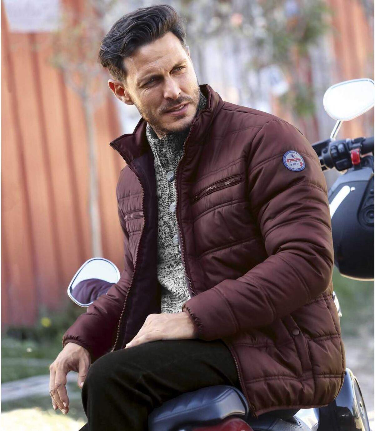 Men's Dark Red Original Outdoor Lightweight Puffer Jacket Atlas For Men