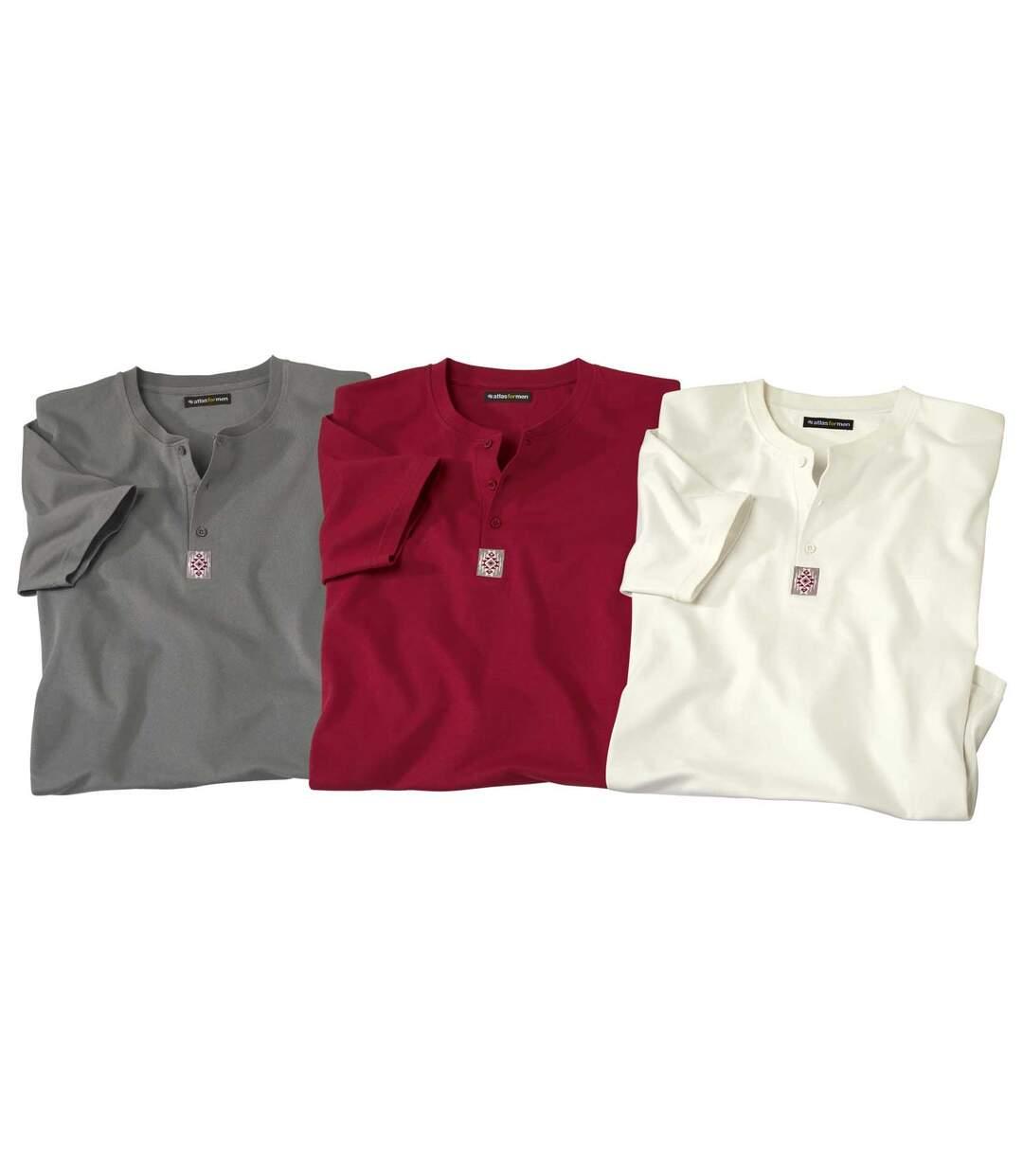 Set van 3 Mythic Raid T-shirts met Tunesische kraag