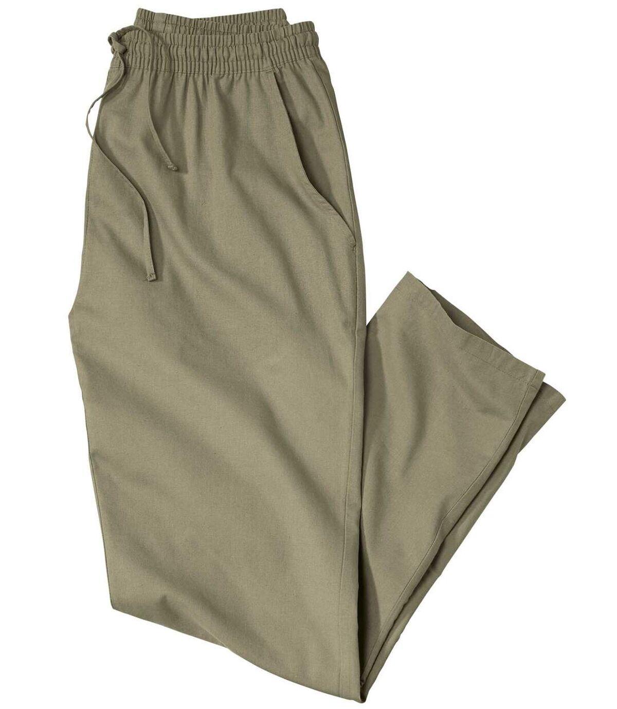 Khaki volnočasové kalhoty Atlas For Men