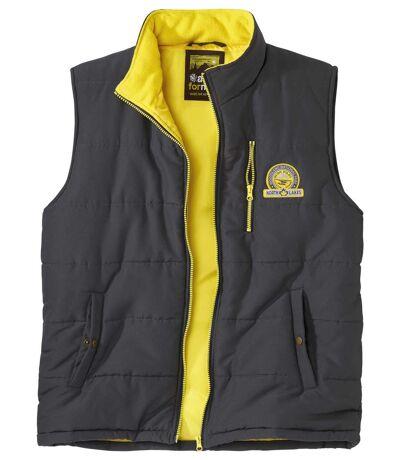 Men's Grey Water-Repellent Puffer Vest