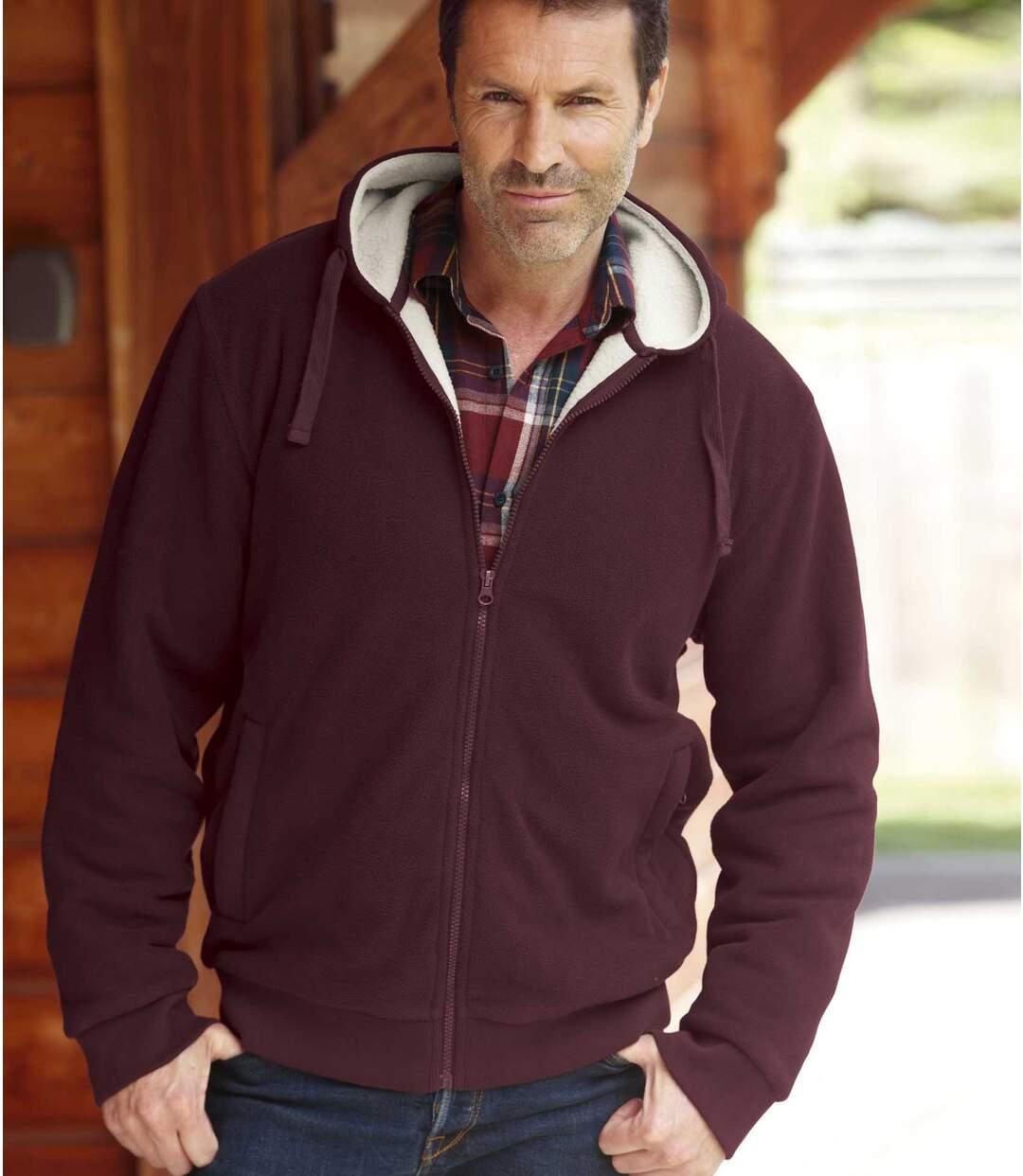 Fleece hoodie met sherpavoering