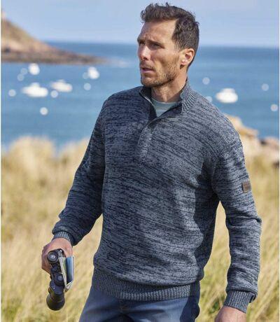 Highlands magas nyakú pamut pulóver