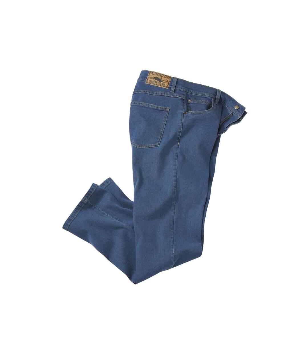 Dunkelblaue Stretch-Jeans
