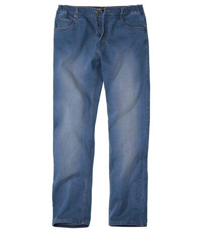 Pohodlné strečové džínsy rovného střihu Regular