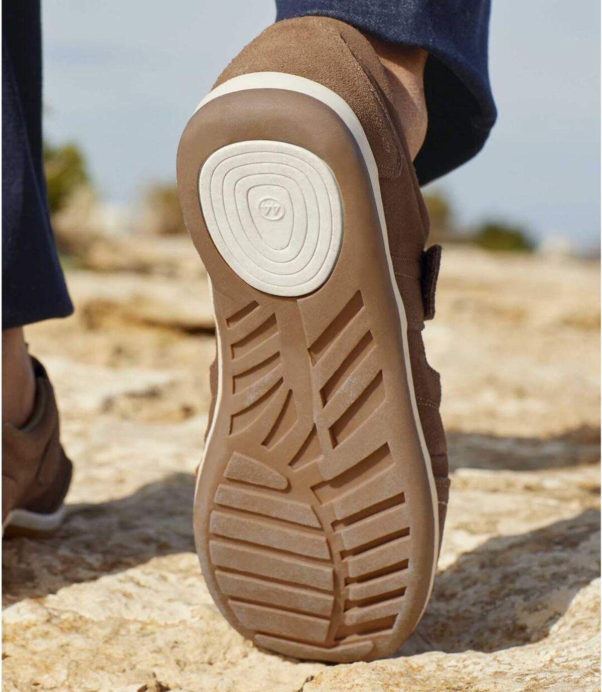 Men's Brown Summer Cut-Out Shoes Atlas For Men